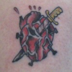 Stabbyheart Tattoo by Levi Greenacres, Skeleton Key Tattoo