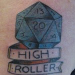 High Roller Tattoo by Levi Greenacres, Skeleton Key Tattoo
