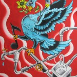 &quot;Five Year Bird,&quot; painting by Levi Greenacres