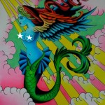 &quot;Flying Mermaid,&quot; painting by Levi Greenacres