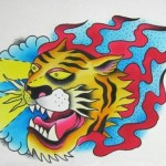 """Zappy Tiger"" painting by Levi Greenacres"