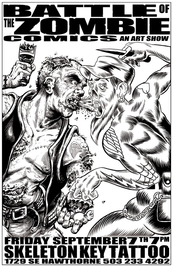 BATTLE OF THE ZOMBIE COMICS, Mark Ledford, September 2012