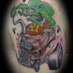 Rat Fink, Session Two. Tattoo by Levi Greenacres