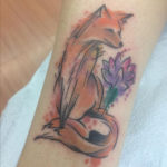Watercolor Fox tattoo by Levi